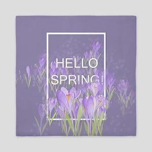 Hello Spring Queen Duvet