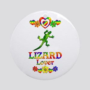 Lizard Lover Round Ornament