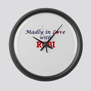 Madly in Love with Rubi Large Wall Clock