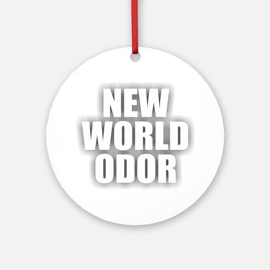 New World Odor Round Ornament