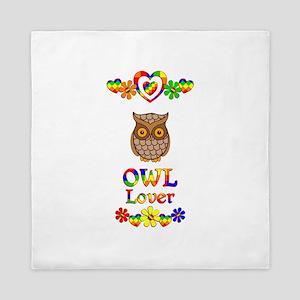 Owl Lover Queen Duvet