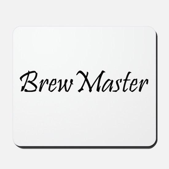 Brew Master Black Mousepad