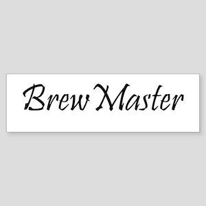 Brew Master Black Bumper Sticker