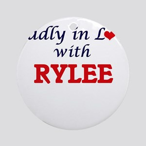 Madly in Love with Rylee Round Ornament