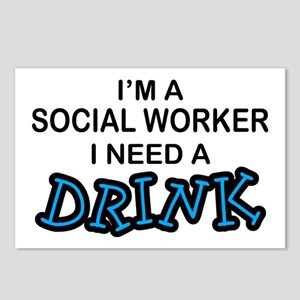 Social Worker Need a Drink Postcards (Package of 8