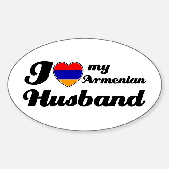 I love my Armenian husband Oval Decal