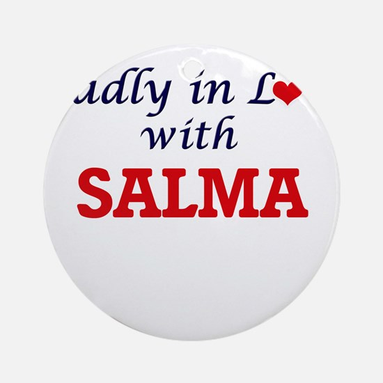 Madly in Love with Salma Round Ornament