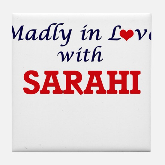 Madly in Love with Sarahi Tile Coaster