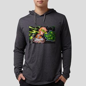 Evil Space Man Graffiti Long Sleeve T-Shirt
