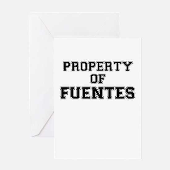 Property of FUENTES Greeting Cards