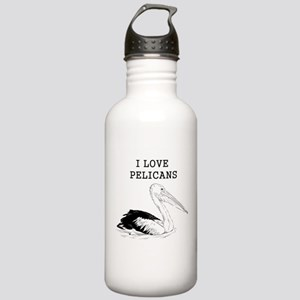 I Love Pelicans Stainless Water Bottle 1.0L