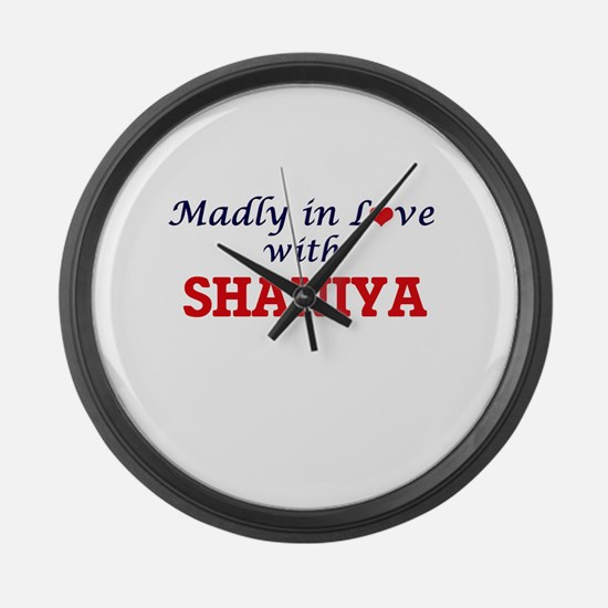 Madly in Love with Shaniya Large Wall Clock