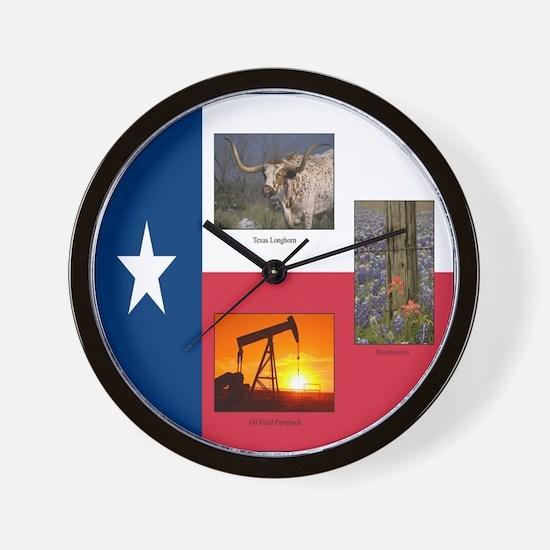 Texas Themed Wall Clock