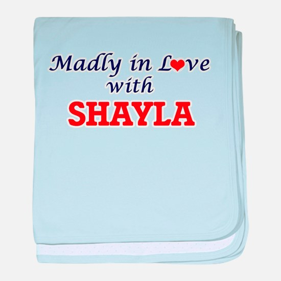 Madly in Love with Shayla baby blanket