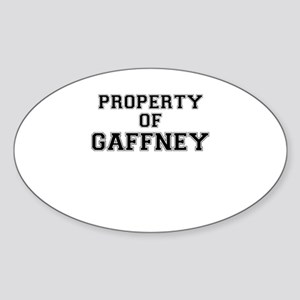Property of GAFFNEY Sticker