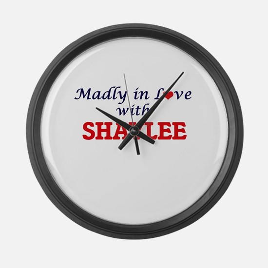 Madly in Love with Shaylee Large Wall Clock