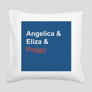 Schuyler Sister Shirt Square Canvas Pillow