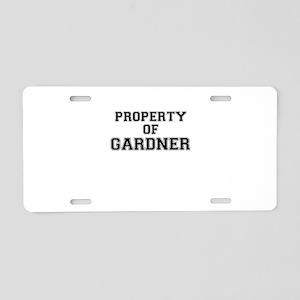 Property of GARDNER Aluminum License Plate