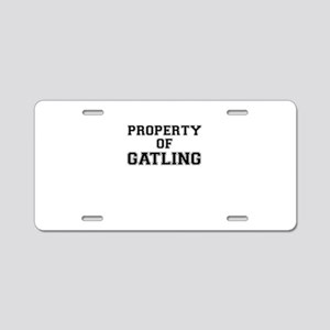 Property of GATLING Aluminum License Plate
