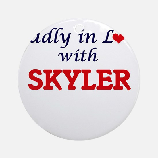 Madly in Love with Skyler Round Ornament
