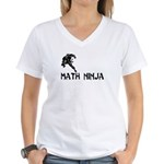 Math Ninja Women's V-Neck T-Shirt