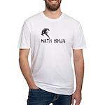 Math Ninja Fitted T-Shirt