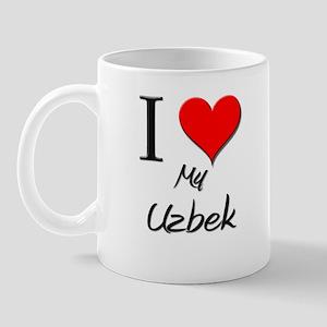 I Love My Uzbek Mug