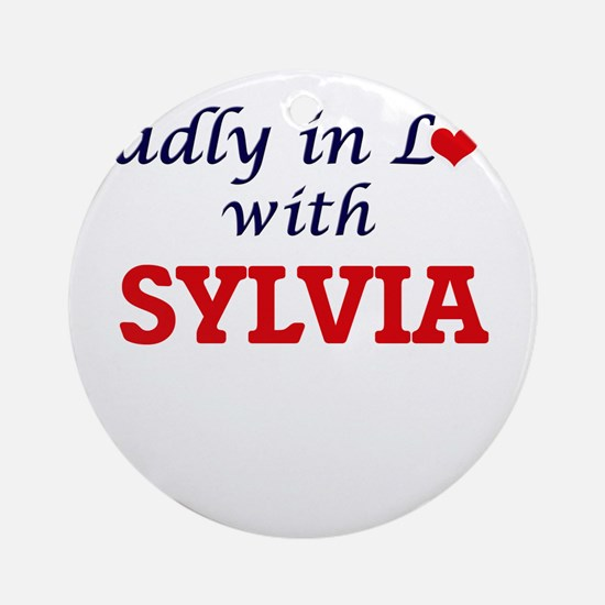 Madly in Love with Sylvia Round Ornament