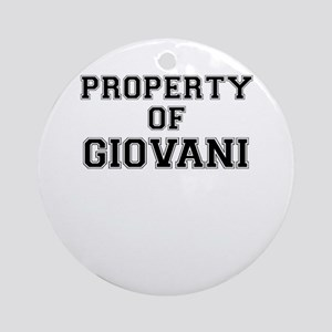 Property of GIOVANI Round Ornament