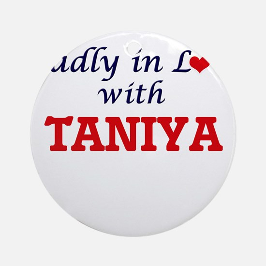 Madly in Love with Taniya Round Ornament