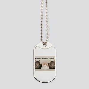 Pussies Against Trump Dog Tags
