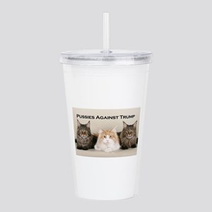 Pussies Against Trump Acrylic Double-wall Tumbler