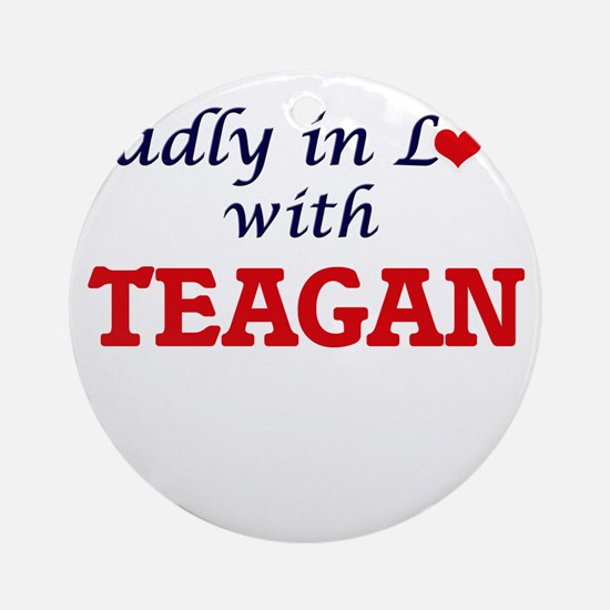 Madly in Love with Teagan Round Ornament