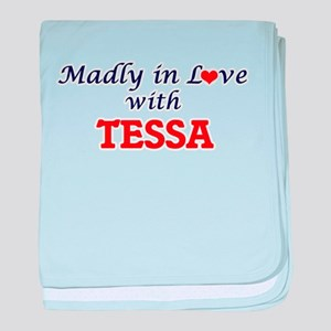 Madly in Love with Tessa baby blanket