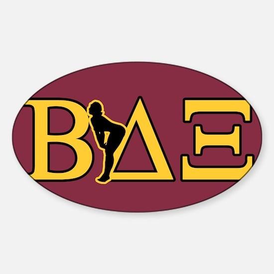 Beta House Fraternity Sticker (Oval)