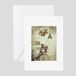 Bicyclette a Paris Greeting Cards (Pk of 10)