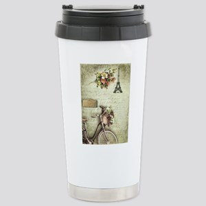 Bicyclette a Paris Stainless Steel Travel Mug