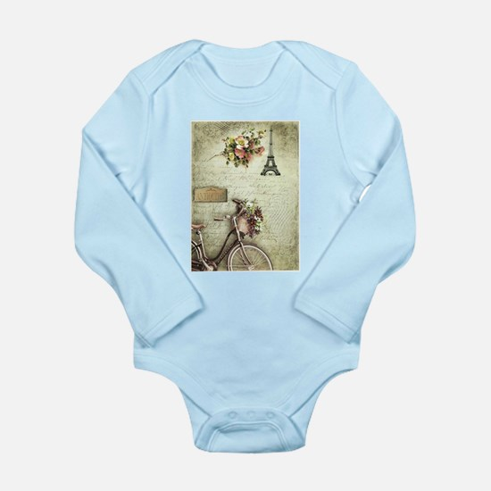 Bicyclette a Paris Long Sleeve Infant Bodysuit