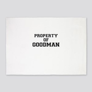 Property of GOODMAN 5'x7'Area Rug