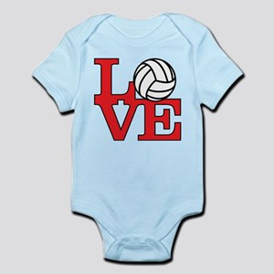 Volleyball Love - Red Body Suit