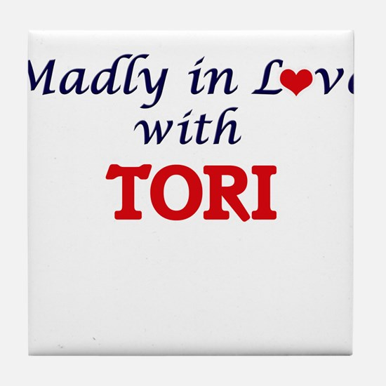 Madly in Love with Tori Tile Coaster