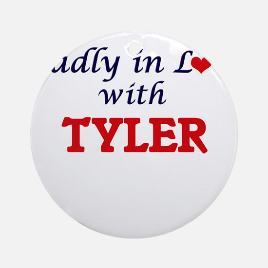 Madly in Love with Tyler Round Ornament