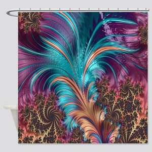 Ruffle A Few Feathers Shower Curtain