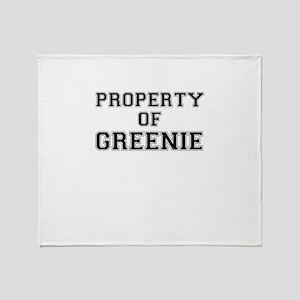 Property of GREENIE Throw Blanket
