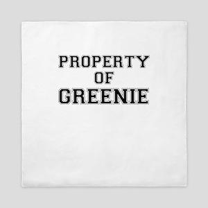Property of GREENIE Queen Duvet