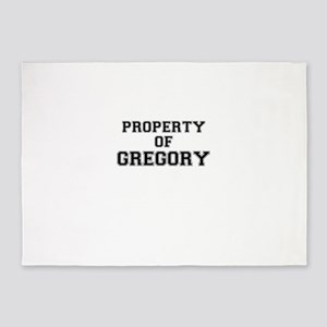 Property of GREGORY 5'x7'Area Rug