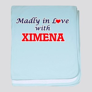 Madly in Love with Ximena baby blanket