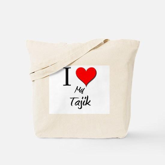 I Love My Tajik Tote Bag