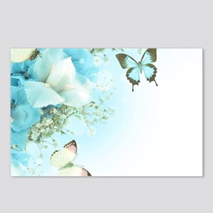 Butterfly Flowers Postcards (Package of 8)