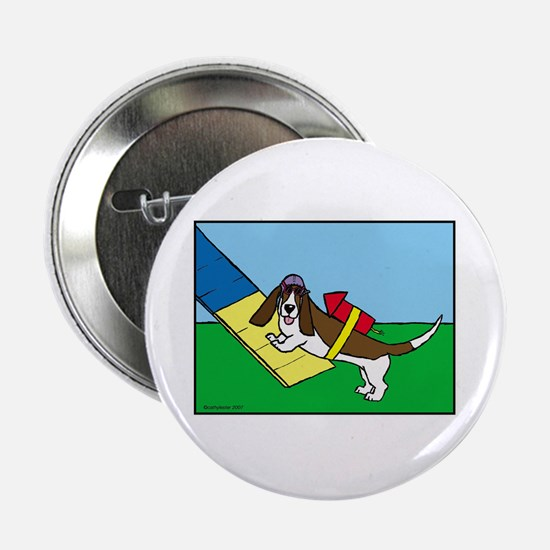 "Basset Agility 2.25"" Button"